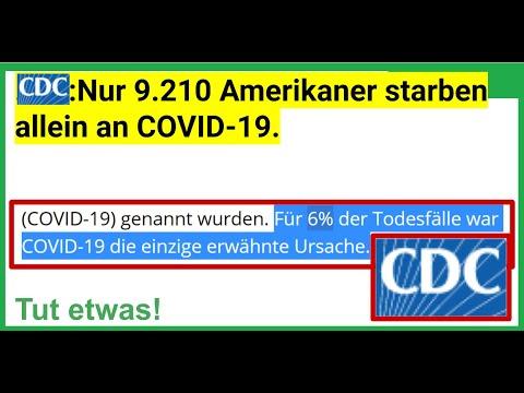 Nur 9.210 Amerikaner starben allein an COVID-19. Quelle: CDC !!