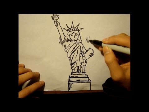 How To Draw Statue Of Liberty|Face|Torch|Cartoon Style thumbnail