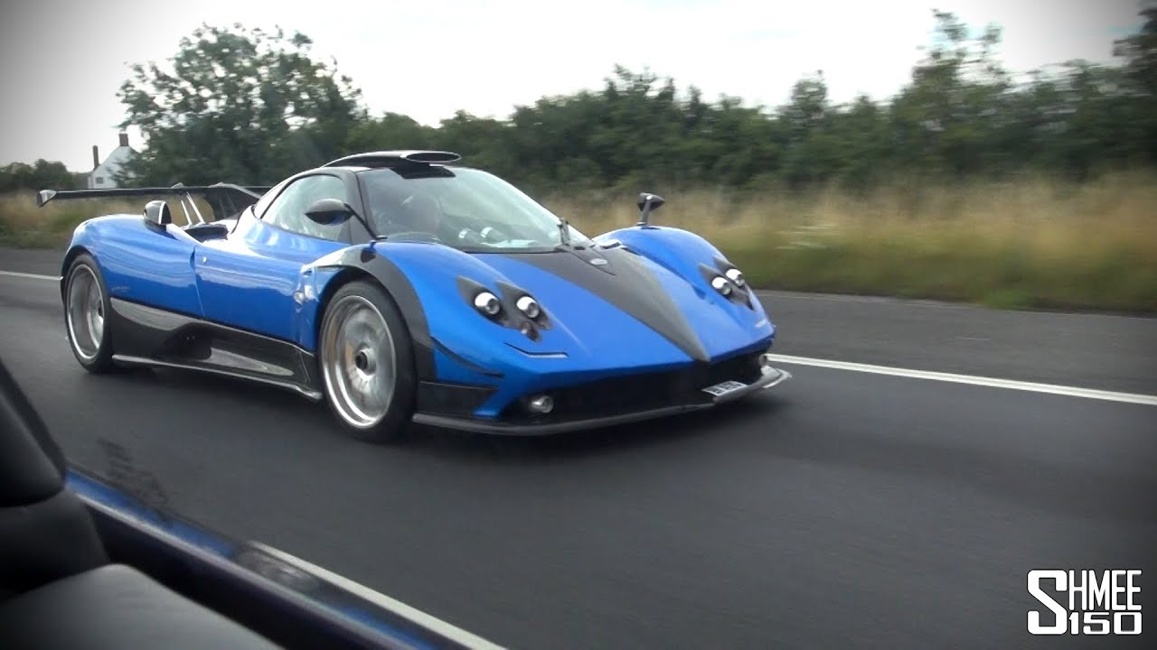 pagani zonda ps 760 - driving in convoy and huge revs - youtube