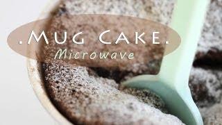 5-minute Chocolate Cake In Mug - Microwave Recipe 전자렌지 초코케이크 만들기 - 한글 자막