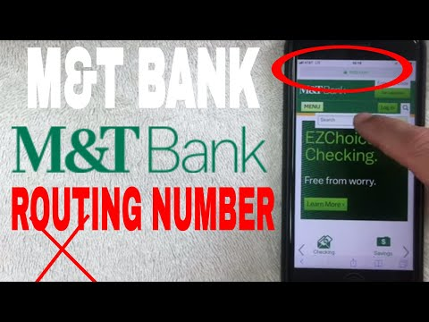 ✅  M And T Bank ABA Routing Number - Where Is It? 🔴