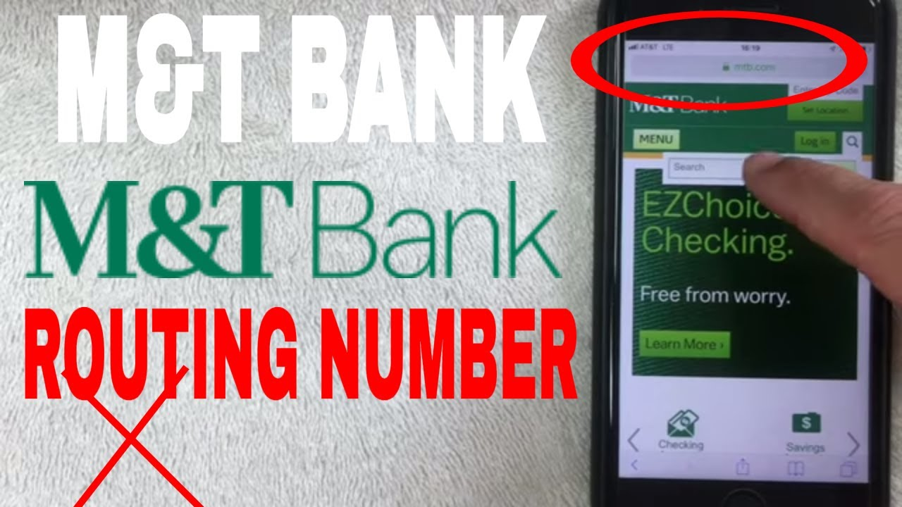 M And T Bank Aba Routing Number Where Is It Youtube