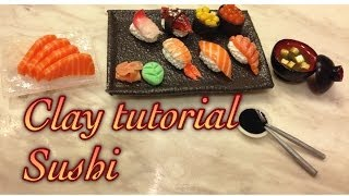 黏土教學 Clay tutorial - 壽司拼盤 (Part 1) Sushi (part 1)