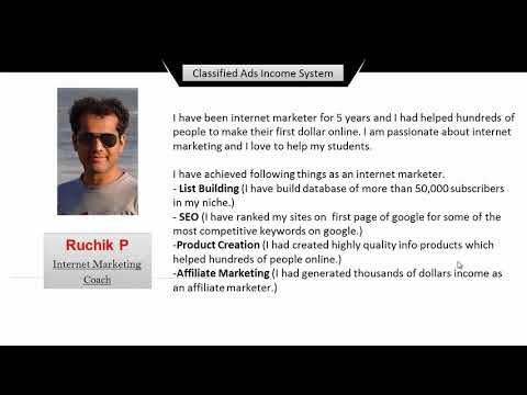 Online Affiliate Marketing: Guide to Posting Classified Ads : About Me