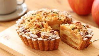 りんごのクランブル・タルトの作り方 Apple Crumble Tart|HidaMari Cooking