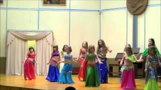 Восточный танец детской группы, студия танца Зарина