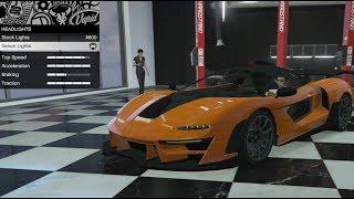 GTA 5 - DLC Vehicle Customization - Progen Emerus (McLaren Senna) and Review