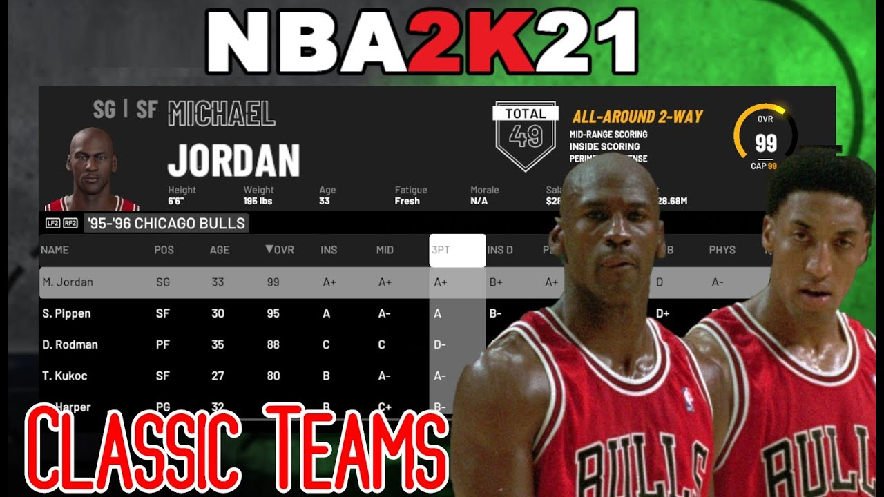 NBA 2k21 How to play with Classic Teams in MyLeague & Season
