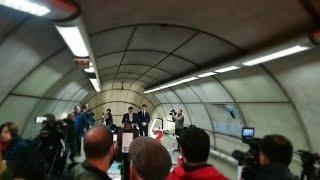 Presentación de los actos del 25 aniversario de Metro Bilbao en el propio suburbano