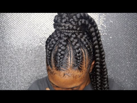 Feeder Braids Into A Ponytail Hair Bybre Atlanta