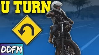 How To Perform A Motorcycle U-TURN!