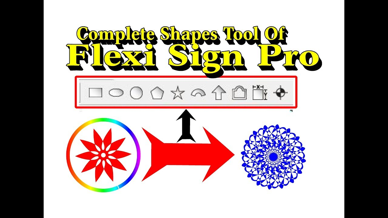 COMPLETE SHAPES TOOLS of FLEXI SIGN PRO