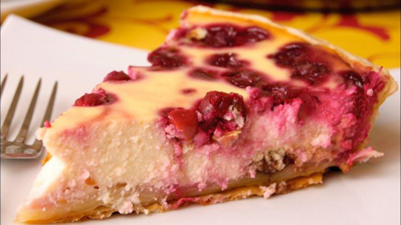 пирог с вишней с творогом в мультиварке