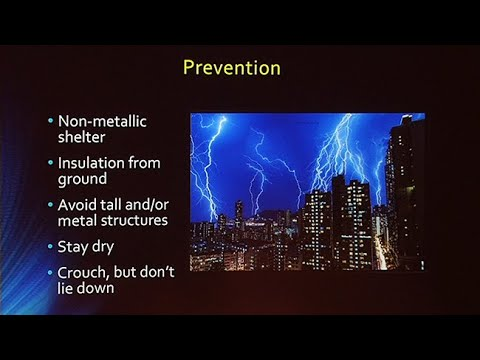 Lightning injuries and Hyperthermia
