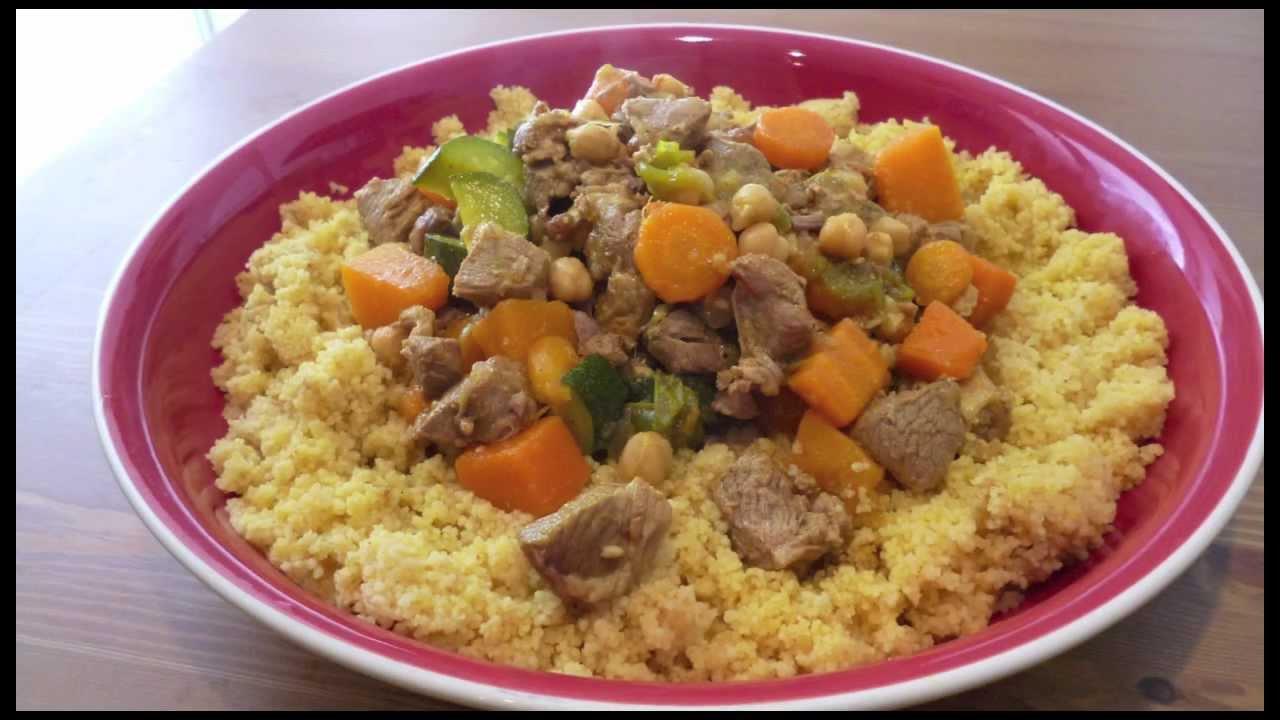 Cous Cous de cordero estofado - Recetas de cocina - YouTube