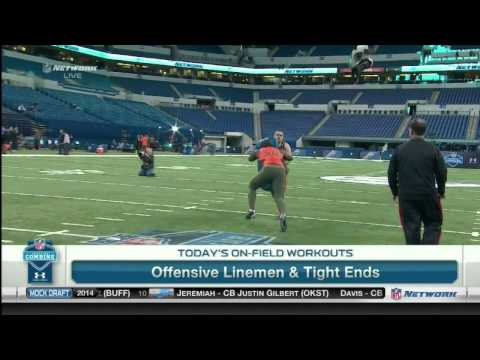 Greg Robinson at the 2014 NFL Combine