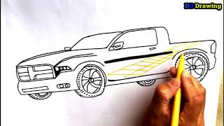 How to draw a Sport and simple car step by step.