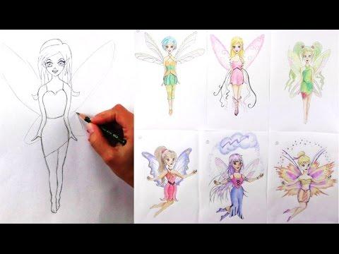 Comic Fee zeichnen / Elfe zeichnen lernen mit Bleistift / Kinder Zeichenkurs