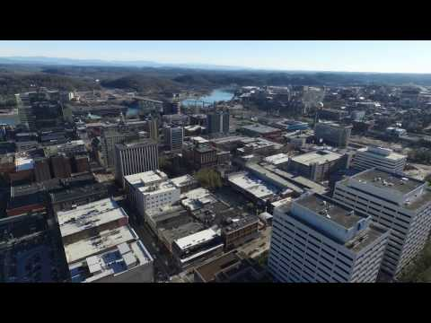 Downtown Knoxville Tennessee Drone Video