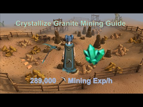 [Runescape 3] Crystallize Granite Mining Guide | Fast Mining Exp!
