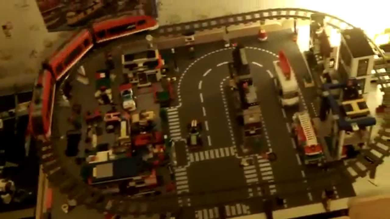 My Lego City Train Set on the Lego Table & My Lego City Train Set on the Lego Table - YouTube