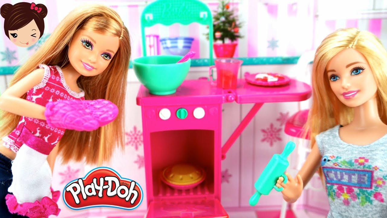 Barbie Cocina De Juguete Stacie Muneca Hace Galletas Con Play Doh