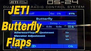 RC-JETI BUTTERFLY SETUP - Jeti Butterfly Setup For Flaps
