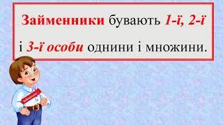 Українська мова  4 клас  Займенник   частина мови