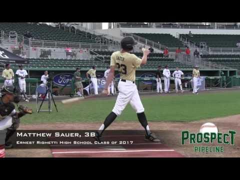 Matthew Sauer prospect video, 3B, Ernest Righetti High School Class of 2017