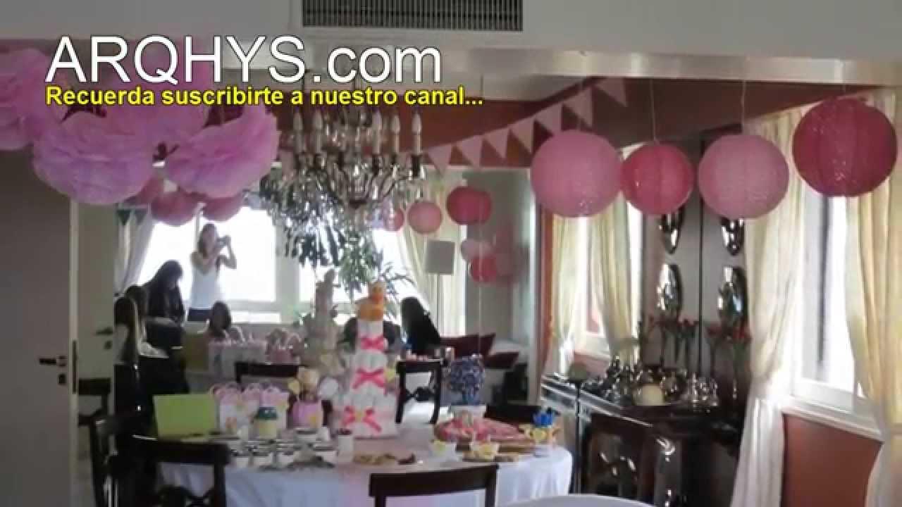 Decorar una fiesta de cumpleaos utilizando globos de todos los
