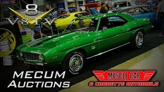 2015 Muscle Car and Corvette Nationals:  Amazing Cars in Mecum Auctions Display Video V8TV MCACN