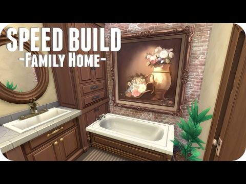 The Sims 4 // LARGE TRADITIONAL FAMILY HOME | Speed Build (No CC)