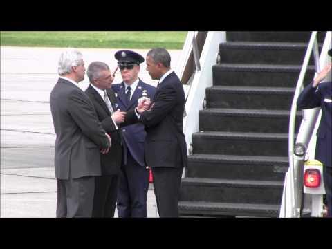 Handshake Raw Video 05222014 Obama Picente Fusco et al by Kristine Bellino WIBX Townsquare Media