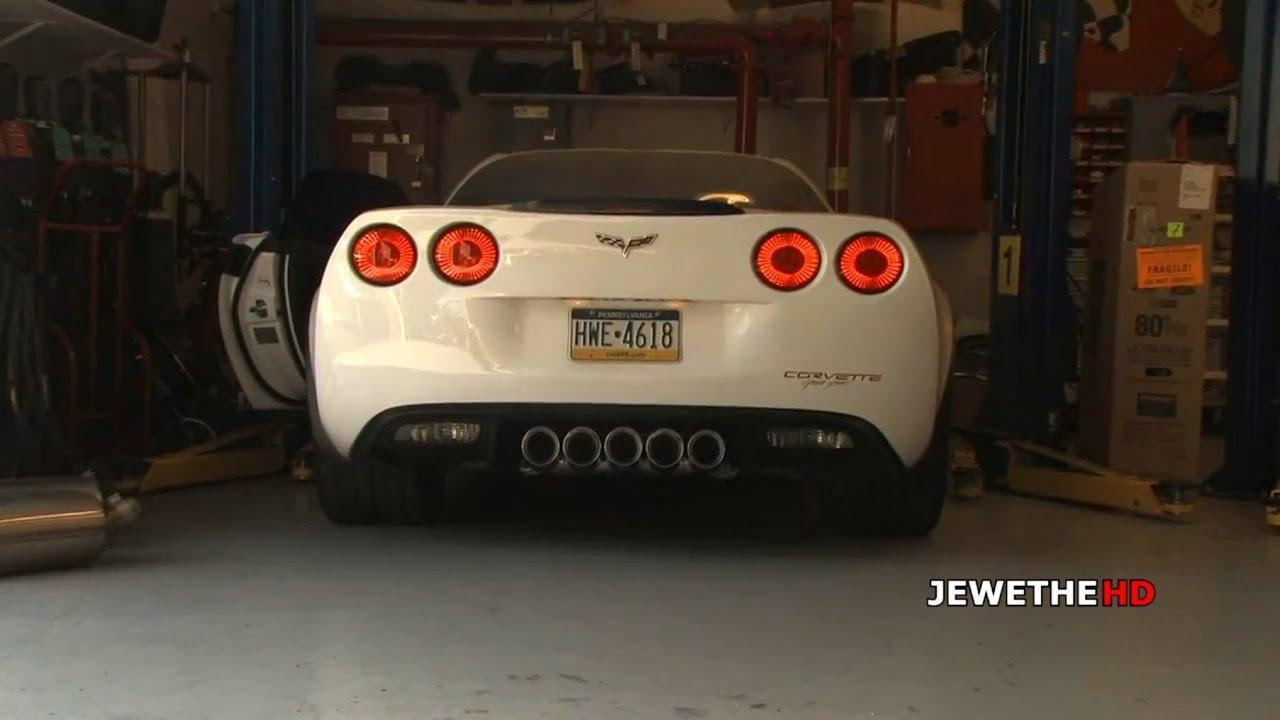 MAD SOUNDING Corvette C6 Grand Sport w/ Custom Race Exhaust Loud REVS! (1080p HD) - YouTube