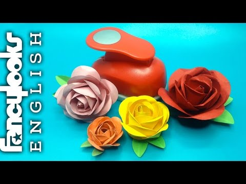 Easy rose made with paper circles
