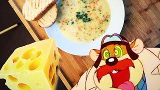 Нежный сырный суп с рисом