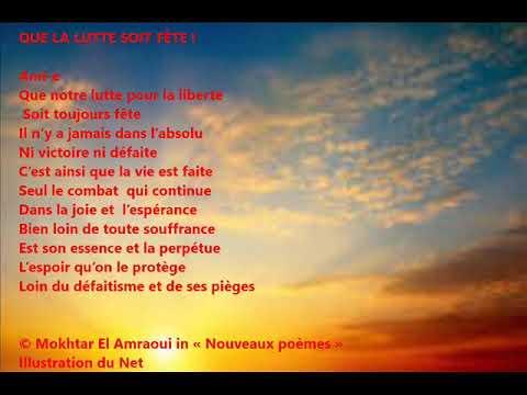 Mokhtar El Amraoui Lisant Son Poème Que La Lutte Soit Fête
