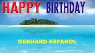 Gerhard espanol   Card Tarjeta - Happy Birthday