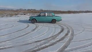 Зимние покатушки, дрист на ваз 2106, ЖигульОК ТВ