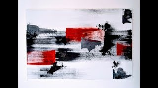 Easy abstract painting - Acrylic speed painting