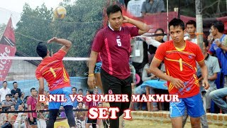 Hujan smesh BNIL VS SUMBER MAKMUR Open Turnamen Volly Ball Tugu Gajah | Deka Production