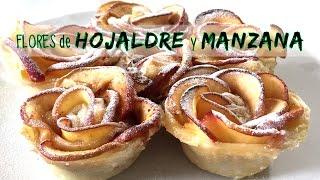 rosas de hojaldre y manzana receta facil