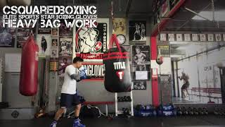 Hitting the Heavy Bag with Elite Sports Star Gel Boxing Gloves