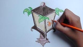 Dibujar paso a paso a Planterna (Plantas vs Zombies) - Draw step by step Planterna