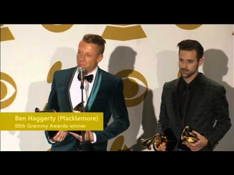 Lewis & Macklemore react to Grammy wins