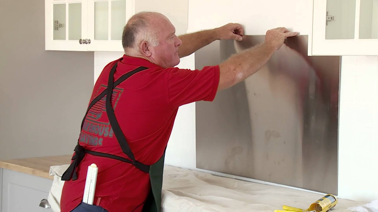 How To Install A Stainless Steel Splashback Diy At Bunnings Youtube