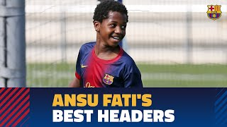 The best headers scored by Ansu Fati at La Masia