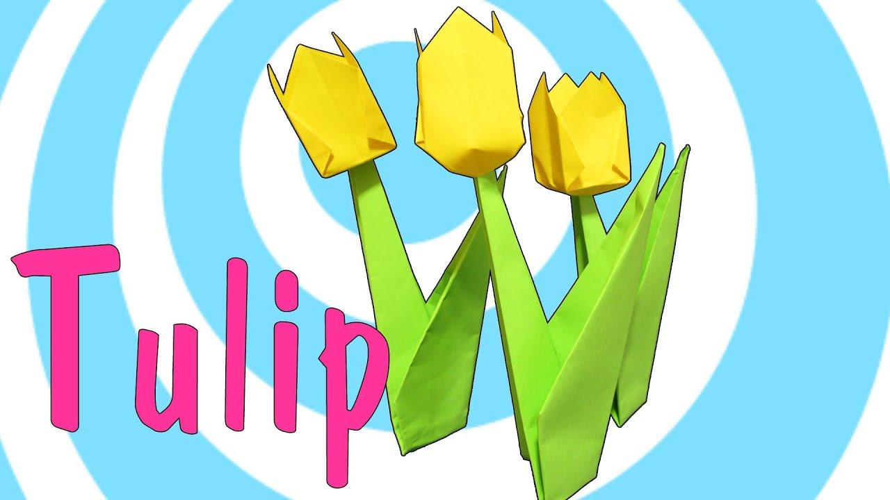Easy Origami Tulip Tutorial