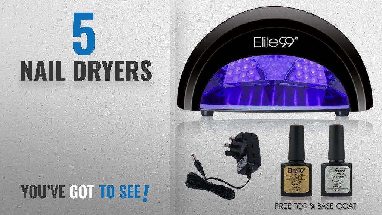 Top 10 Nail Dryers [2018]: LED Nail Lamp Kit, Elite99 12W Black ...