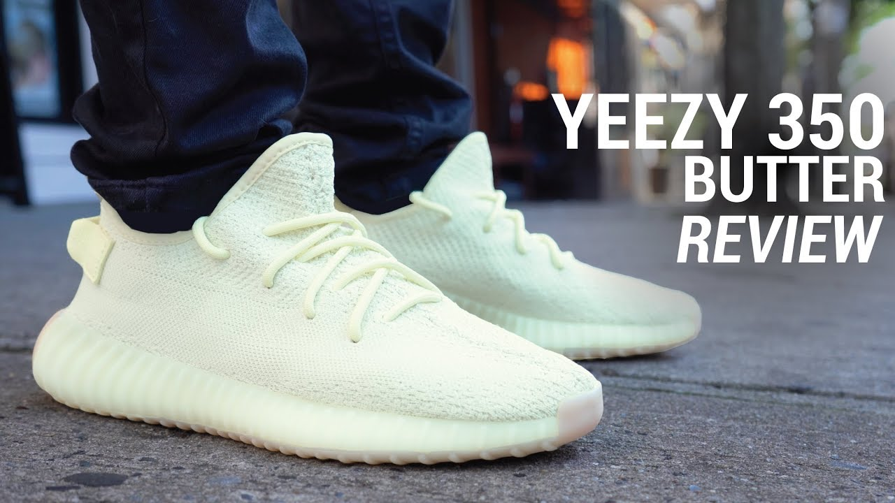 8e0c18094e6fdf ADIDAS YEEZY BOOST 350 V2 BUTTER REVIEW - YouTube